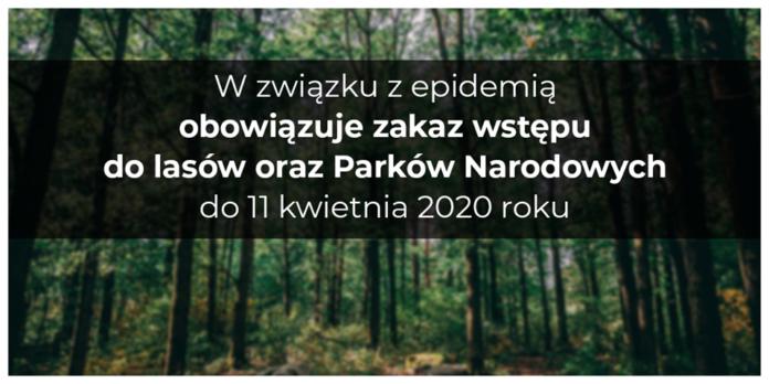 zakaz wstępu do lasu Wyszków