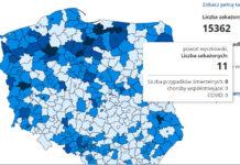 powiaty w Polsce mapa zakażeń COVID