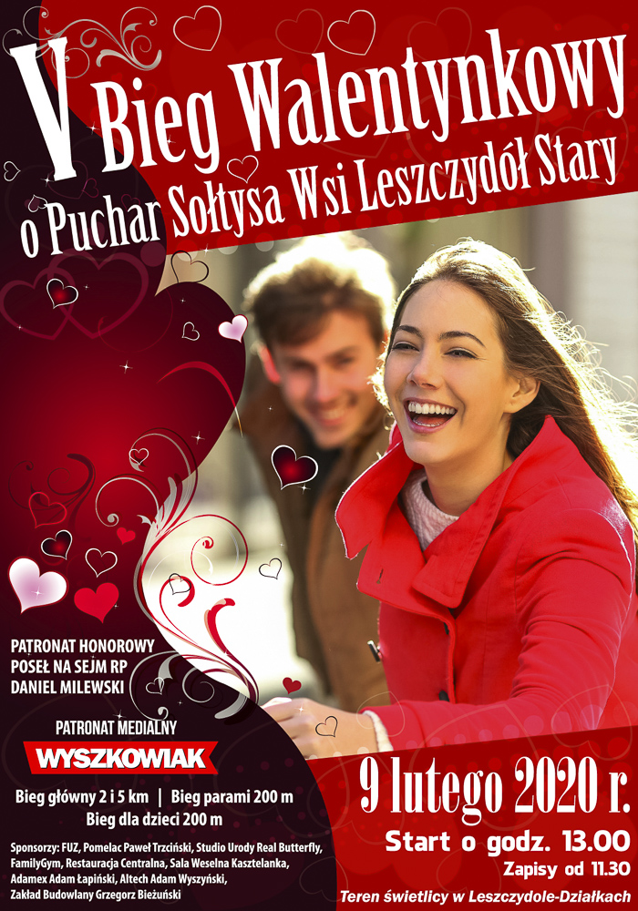 V bieg Walentynkowy o Puchar Sołtysa Wsi Leszczydół Stary