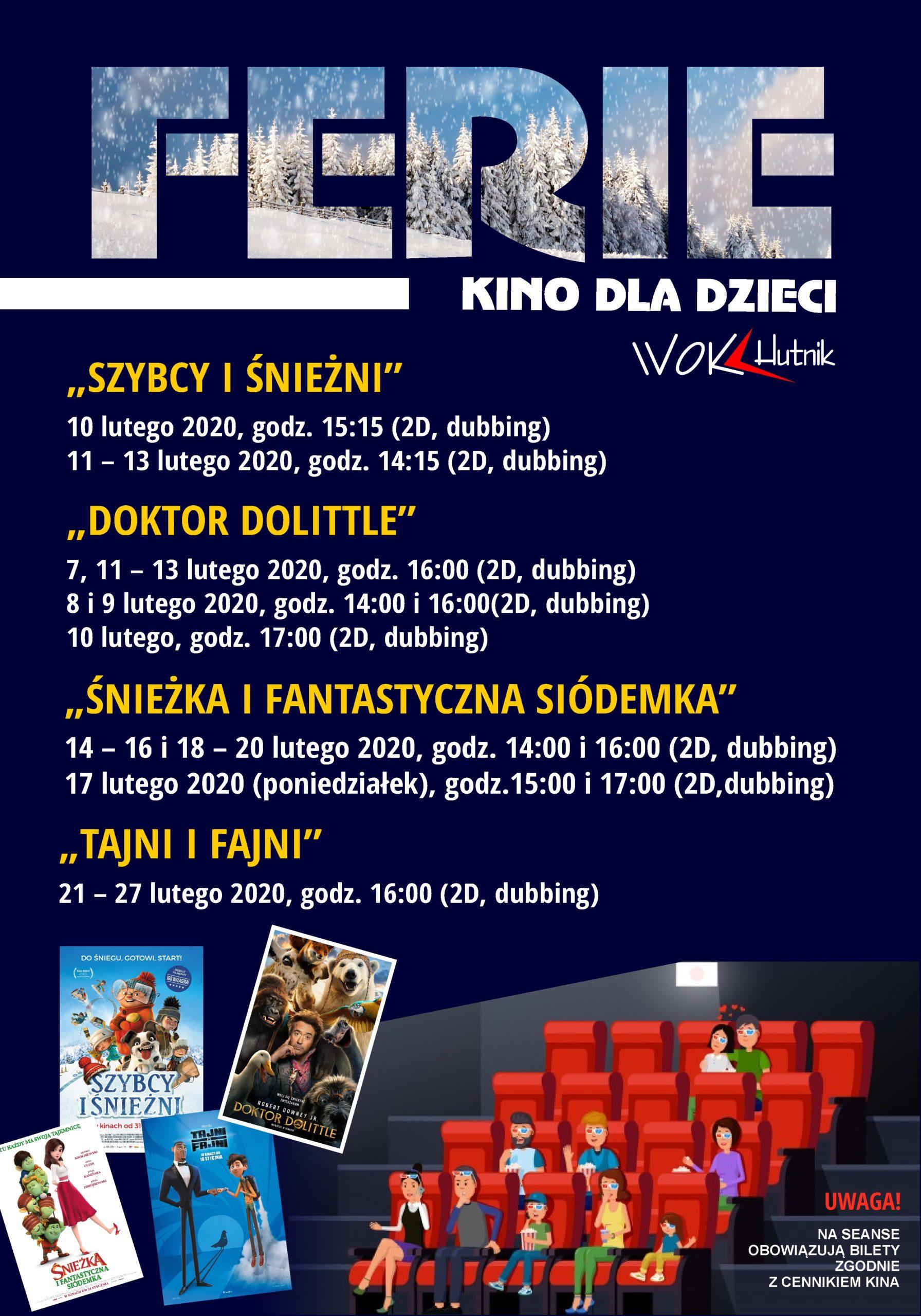 ferie 2020 Wyszków kino
